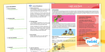 CfE First Level PlanIt RE Year 2 Light and Dark PlanIt Overview - CfE Planit Overviews, Christmas, Advent, light, Christianity, Rama and Sita, Hindu, Diwali, Judaism,