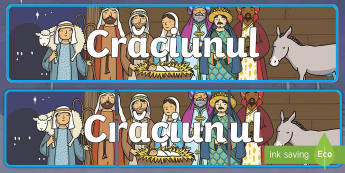 Crăciunul Banner - serbare de Crăciun, activități manuale, jucării de crăciun, machete, Romanian