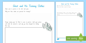 Ghost and His Training Clothes Activity - chapter chat, year 5, year 6, running, training, literacy, reading, jason reynolds, Ghost