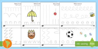 Pencil Control Activity Sheets US English/Spanish (Latin) - Handwriting, tracing lines, lines, pencil control, line guide, fine motor skills, Handwriting, Writi