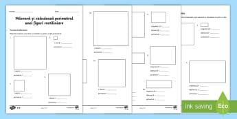 Măsoară și calculează perimetrul figurilor Fișe diferențiate - perimetrul, perimetru, figuri geometrice, română, matematică, geometrie, figuri geometrice