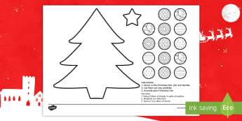 Cutting Skills Christmas Tree Activity English/Italian - Cutting Skills, Christmas Tree Activity, EAL, Italian