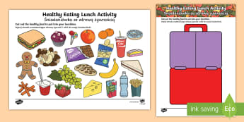 Healthy Eating Lunch Activity English/Polish - Healthy Eating Lunch Activity - healthy, healthy eating, sort, activity, fruit, game, how to eat hea