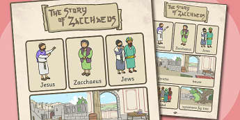 Zacchaeus the Tax Collector Bible Story Vocabulary Poster - bible