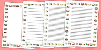 Mexican Food Page Borders - mexico, food, borders, page borders