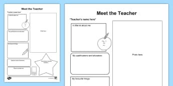 Meet the Teacher Parent and Carer Information Sheet - meet the teacher, start school, transition, teacher information, class information, home school link