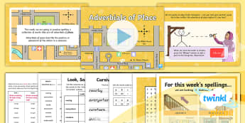 PlanIt Spelling Year 5 Term 3A W4: Adverbials of Place Spelling Pack - Spellings Year 5, Y5, adverbs, adverbials, spelling, spag, gps,weekly, lists, pack, test, place, fro