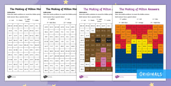 The Making of Milton Subtraction Maths Mosaics Activity Sheets - twinkl fiction, The making of milton, maths, mosaics, subtraction, KS1, worksheet, worksheets