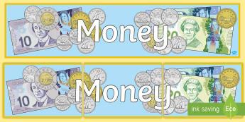 Money Display Banner - Math, Display, Money, Junior.