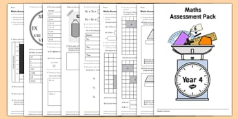 Year 4 Maths Assessment Pack Term 1 - assessment, pack, year 4, maths, numbers
