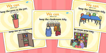 We Can Classroom Rule Display Posters Arabic Translation - arabic
