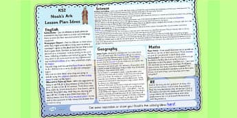 Noahs Ark Lesson Plan Ideas KS2 - noahs ark, lesson plan, KS2