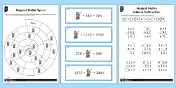 Inverse Operations Magic Maths Differentiated Activity Sheets - Number - Addition and Subtraction, add, addition, subtraction, subtract, minus, worksheets, checking