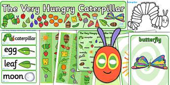 Pack de ressources : The Very Hungry Caterpillar (La chenille qui fait des trous) - Anglais LV