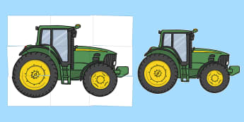 Farm-Tractor Large Display Cut-Out Pack - Farmer and Duck Story Cut Outs - farmer duck, story cut outs, story, story characters, character cut
