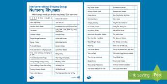Intergenerational Singing Activity Sheet - Singing, Intergenerational, Tips, Elders, Children, Activity Co-ordinators, Care Homes, Elderly Care