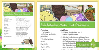 Easter Egg Nest Buns Recipe-German - Easter, Baking, Backen, German, Food,German.