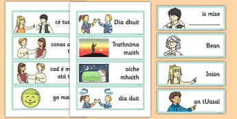 Year 3 Getting to Know You Word Cards Gaeilge - gaeilge, getting to know you, get, know, you, word cards, word, cards