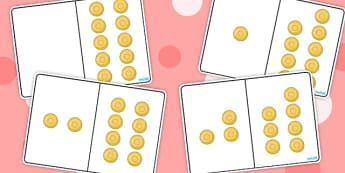 Pirate Gold Coins Counting Number Bonds to 10 - numbers, numeracy