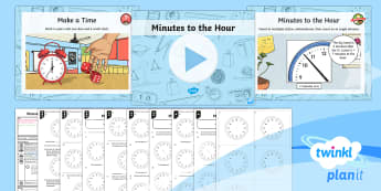 PlanIt Y3 Measurement Lesson Pack Telling the Time (3) - Y3, KS2, Maths, Measurement, measures, measuring, time, telling the time, clock, analogue, tell and