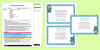 EYFS Playdough Troll Finger Gym Plan and Prompt Card Pack