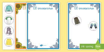 Juego de clasificar: La ropa invernal y veraniega - invierno, verano, las estaciones, ropa, Spanish