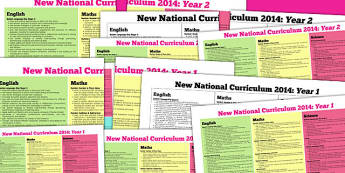 KS1 2014 Curriculum Posters Years 1 And 2 - key stage one