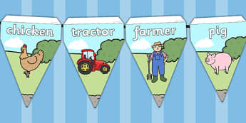 Farm Theme Bunting - farm, farm display, bunting, display bunting