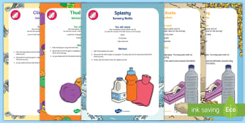 Different Sounds Sensory Bottle Pack  - Phase 1, Aspect 1, General Sound Discrimination, Environmental Sounds, phonics, letters and sounds