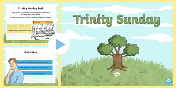 KS2 Trinity Sunday Information PowerPoint - pentecost, christianity, Christian belief, christian, doctrine, creed, holy spirit, holy trinity.