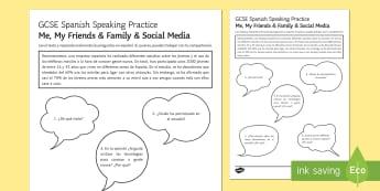 Meeting People Using Apps Speaking Practice Activity Sheets - Spanish Speaking Practice, social media, technologies, friends, meeting people, teenagers, activity,