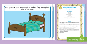 The Frog Prince Playdough Recipe and Mat Pack - traditional tale, fairy tale, fairytale. princess, play dough, play doh