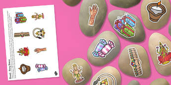 Diwali Story Stone Image Cut Outs - diwali, story stone, image, cut outs, eyfs, early years, story, stone