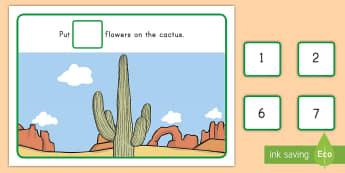 Desert Counting Playdough Mats - desert habitat, desert, desert animals, habitats, counting, number recognition, playdough mats