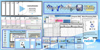 Microsoft Word Skills: Unit Pack - Year 3 Computing Lesson Pack