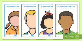 Face Playdough Mats English/Portuguese  - Playdough mat, playdough resources, all about me, emotions, feelings, face, faces, eal