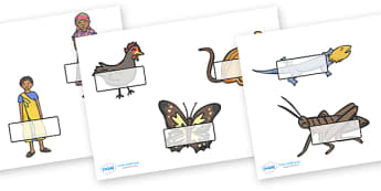 Handa's Hen Self Registration - Handa's Hen, Eileen Browne, self registration, register, attendance, Africa, African culture, African animals, counting, Mondi, sunbirds, bullfrogs, spoonbills, story, story book, story book resources, story sequencing