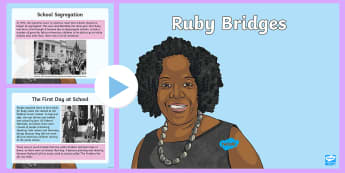 Ruby Bridges PowerPoint - KS2, comprehension, reading, reading comprehension, reading activity, Ruby Bridges, Black History Mo