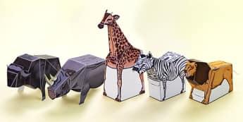 Safari Paper Model Pack - safari, paper model, pack, paper craft, paper, model, display