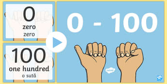 0 100 Numerals and Words Maths Counting PowerPoint English/Romania - 0 100 Numerals and Words Maths Counting PowerPoints - romans, countng, couting, numberals, coutning,