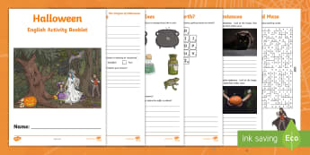 Year 6 Halloween English Activity Booklet - holiday booklet, homework booklet, y6, spag, writing activity, reading activity,