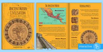 The Ancient Maya E Book - mayans, ancient mayans, history, KS2