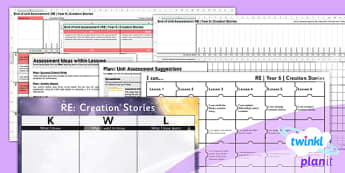 PlanIt - RE Year 6 - Creation Stories Unit Assessment Pack