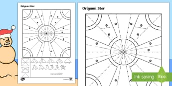 Eenvoudige Origami Kersfees Ster Papier Kuns  - Desember, vier, tradisie, maak, vou, kreatief