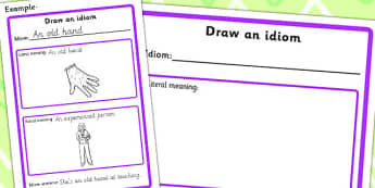 Draw An Idiom Template - idiom, draw, meanings, drawing, sen, idioms