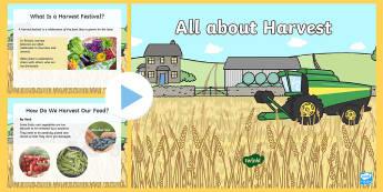 EYFS All about Harvest PowerPoint - Harvest festival, Christian festival, autumn, food, celebration,