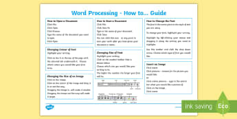 Word Processing Guide-Scottish - CfE Digital Learning Week (15th May 2017) Digital learning and teaching strategy, word processing, m