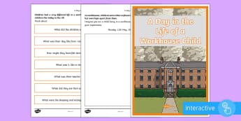 A Day in the Life of a Workhouse Child Go Respond Activity Sheets - KS2 Workhouses, a day in the life, Victorian life, workhouses, life in a workhouse, children in a wo