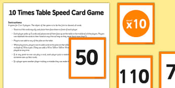 10 Times Table Speed Game - 10 times table, 10, times table, speed game, game, activity
