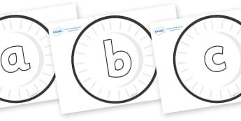 Phoneme Set on Circles (Plain) - Phoneme set, phonemes, phoneme, Letters and Sounds, DfES, display, Phase 1, Phase 2, Phase 3, Phase 5, Foundation, Literacy